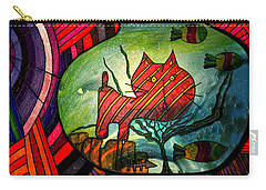 Kitty In A Fish Bowl - Abstract Cat Carry-all Pouch