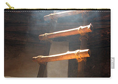 Carry-all Pouch featuring the photograph Kiva Ladder by Marcia Socolik
