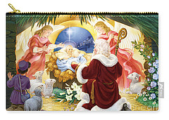 Kneeling Santa Nativity Carry-all Pouch