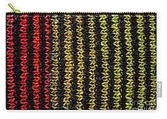 Carry-all Pouch featuring the photograph Knitted Striped Scarf by Les Palenik