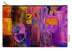 Carry-all Pouch featuring the painting Wine Glass Ice Sculpture by Lisa Kaiser