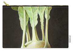Kohl Rabi, 2012 Acrylic On Canvas Carry-all Pouch by Lincoln Seligman