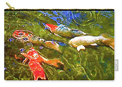 Carry-all Pouch featuring the photograph Koi 1 by Pamela Cooper