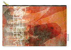Koi In Orange Carry-all Pouch by Carol Leigh