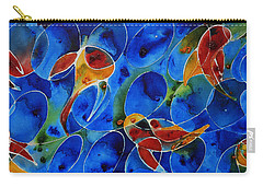 Koi Pond 2 - Liquid Fish Love Art Carry-all Pouch by Sharon Cummings