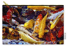 Carry-all Pouch featuring the photograph Koi Pond by Marie Hicks