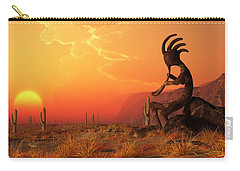 Kokopelli Sunset Carry-all Pouch by Daniel Eskridge
