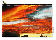 Carry-all Pouch featuring the photograph Kona Sunset 77 Lava In The Sky  by David Lawson