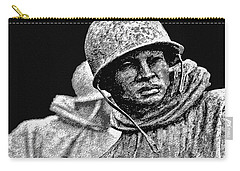 Carry-all Pouch featuring the painting Korean War Veterans Memorial by Bob and Nadine Johnston
