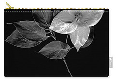 Kousa Dogwood In Black And White Carry-all Pouch