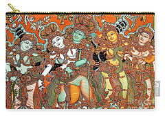 Krishna And Radha Carry-all Pouch by Pg Reproductions
