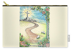 Carry-all Pouch featuring the drawing Krizevac - Cross Mountain by Christina Verdgeline