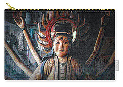 Carry-all Pouch featuring the photograph Kuan Yin by Nadalyn Larsen
