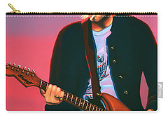 Kurt Cobain In Nirvana Painting Carry-all Pouch by Paul Meijering
