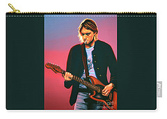 Kurt Cobain In Nirvana Painting Carry-all Pouch