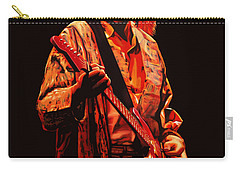 Kurt Cobain Painting Carry-all Pouch by Paul Meijering