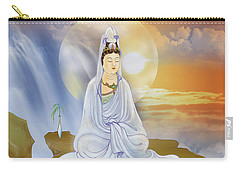 Carry-all Pouch featuring the photograph Kwan Yin - Goddess Of Compassion by Lanjee Chee