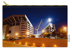 Kyle Field At Night Carry-all Pouch by Linda Unger