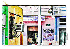 Carry-all Pouch featuring the photograph La Farmacia by Jim Thompson