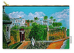 La Fortaleza San Juan Puerto Rico Carry-all Pouch by Frank Hunter
