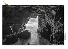 La Jolla Cave Bw Carry-all Pouch by Michael Ver Sprill