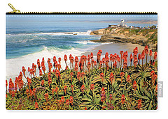 La Jolla Coast With Flowers Blooming Carry-all Pouch