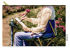 Carry-all Pouch featuring the photograph La Peintre by Chris Lord