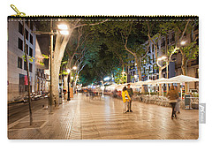 La Rambla At Night  In Barcelona Carry-all Pouch