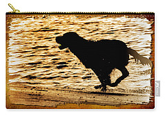 Carry-all Pouch featuring the photograph Labrador Silhouette by Eleanor Abramson