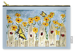 Carry-all Pouch featuring the painting Ladies In The Garden by Angela Davies