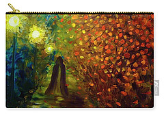 Carry-all Pouch featuring the painting Lady Autumn by Lilia D