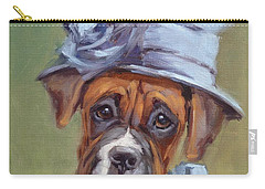 Lady Boxer With Blue Hat Carry-all Pouch