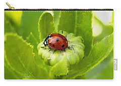 Lady Bug In The Garden Carry-all Pouch