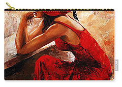 Lady In Red 21 Carry-all Pouch