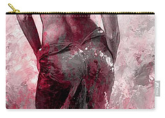 Lady In Red #27 Digital Colored Version Red Carry-all Pouch