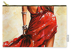 Lady In Red 40 Carry-all Pouch