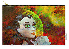 Carry-all Pouch featuring the mixed media Lady In Red by Ally  White
