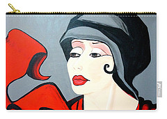 Lady In Red  Art Deco Carry-all Pouch