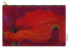 Carry-all Pouch featuring the painting Lady In Red by Sandi Whetzel