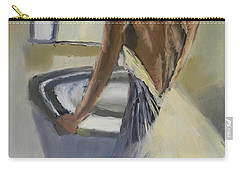 Carry-all Pouch featuring the painting Lady In The Mirror by Pamela  Meredith
