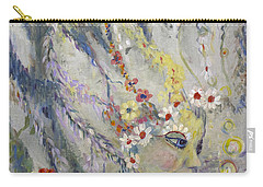 Lady In The Waterfall Carry-all Pouch by Avonelle Kelsey