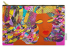 Carry-all Pouch featuring the tapestry - textile Lady J by Apanaki Temitayo M