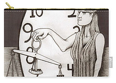 Lady Justice And The Handless Clock Carry-all Pouch