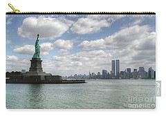 Lady Liberty And New York Twin Towers Carry-all Pouch