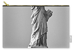 Lady Liberty Black And White Carry-all Pouch by Kristin Elmquist
