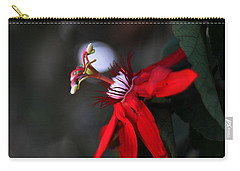 Carry-all Pouch featuring the photograph Lady Margaret - Passionflower  by Ramabhadran Thirupattur