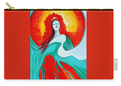 Lady Of Two Worlds Carry-all Pouch by Alison Caltrider