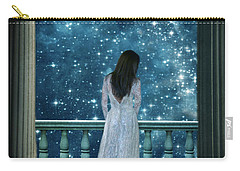 Lady On Balcony At Night Carry-all Pouch