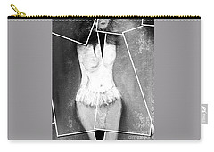 Carry-all Pouch featuring the digital art Lady by Ann Calvo