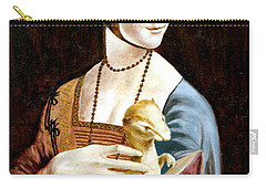 Lady With An Ermine Carry-all Pouch